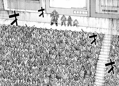 ドームの観客